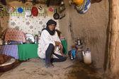 DESERT SAHARA, MOROCCO - APRIL 17: Unidentified person, portrait — Stock Photo