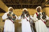 DESERT SAHARA, MOROCCO - APRIL 17: Unidentified persons, portrai — Stock Photo