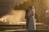 結婚式のカップルのキス — ストック写真