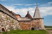 Towers of the Solovetsky monastery — Stock Photo