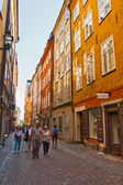 Tourists walk in Stockholm — Stock Photo