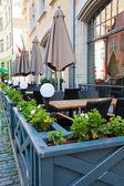 уличное кафе — Стоковое фото