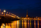 Riga at night — Stock Photo