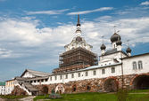 Central courtyard of the Solovetsky monastery — Stock Photo