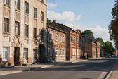 Alte Holzhäuser in Riga — Stockfoto