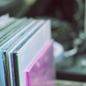 Vinyl collection — Foto Stock