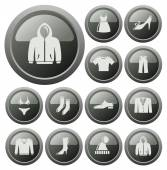 Clothes buttons — Vector de stock
