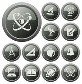 Education buttons — Stock Vector