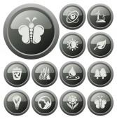 Environment buttons — Stock Vector