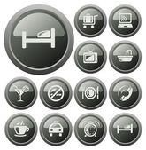 Hotel przyciski — Wektor stockowy