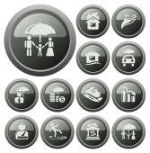 Insurance buttons — Vecteur