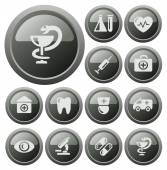 Medical buttons — Stockvector