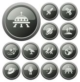 Space buttons — Stock Vector