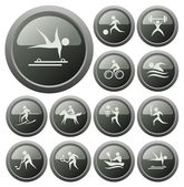 Sport buttons — Stock Vector