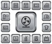 Home electronics buttons — Stock vektor