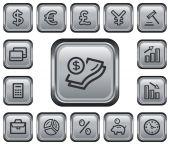 Botões de finanças — Vetor de Stock