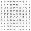 100 universal icons — Stock Vector #61553387