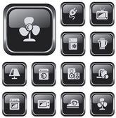 Botones de página electrónica — Vector de stock
