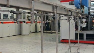 Plastic bottle production — Stock Video