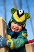 Winter outdoor play — Stock Photo