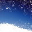Star and snow winter background — Stock Photo #59761627