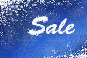 Winter sale background — Stock Photo