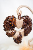 Decorative coffe heart — Foto Stock