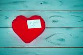 Red heart and love confession — Stock Photo