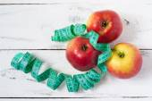 Apples and diet — Stock Photo