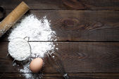 Ingredients for cooking baking — Stock Photo