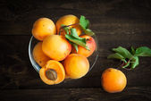 Some apricots in a bawl — Stock Photo