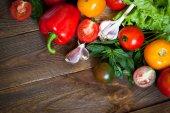 Organic food background- — Stock Photo
