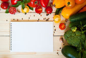 Organic food background — Stock Photo