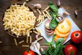 Ingredients for cooking pasta — Stock Photo