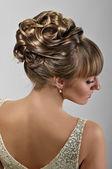 Beautiful wedding hairstyle — Stock Photo