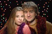 Christmas couple — Стоковое фото