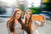Women selfie — Stock Photo