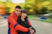 молодая осень пары — Стоковое фото