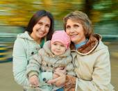 Mother, daughter and granddaughter — Stock Photo