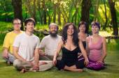Outdoor Yoga People Meditation — Stock Photo