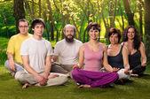 Outdoor Yoga People Meditation — Stock Photo