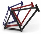 Carbon fiber bike frames — Stock Photo