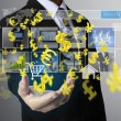 Touch Screen financial symbols — Stock Photo #52257621