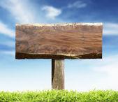 Wood Sign — Stock Photo