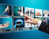 Businessmen and Reaching images streaming  — Stock Photo