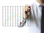 Drawing a graph  — Stock Photo