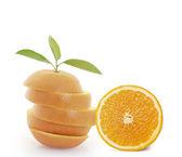 Orange slice on white background  — Stock Photo