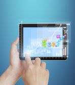 Touch- tablet in hands — Stock Photo