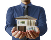 House model concept in  hand — Stock Photo