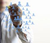 Desenho de estrutura de rede social — Fotografia Stock